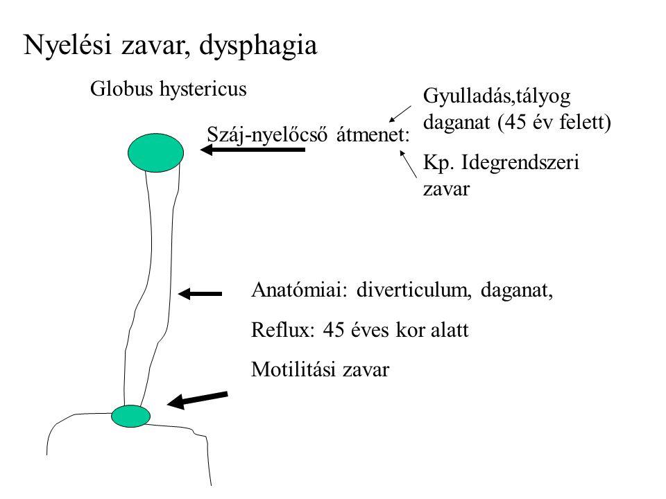 Nyelési zavar, dysphagia
