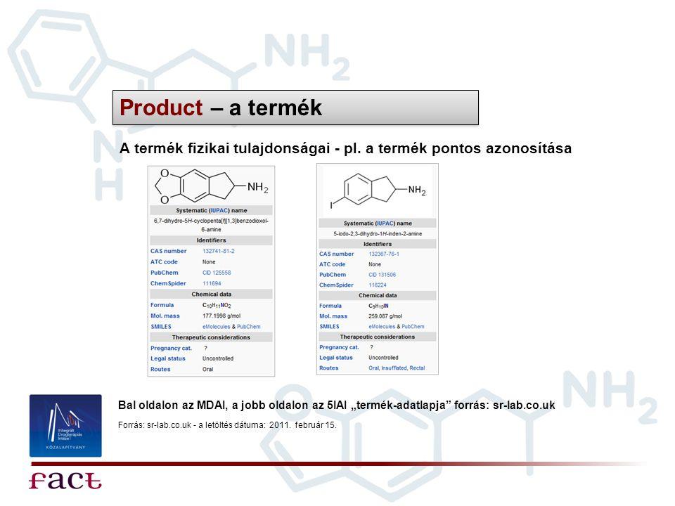 Product – a termék A termék fizikai tulajdonságai - pl. a termék pontos azonosítása.
