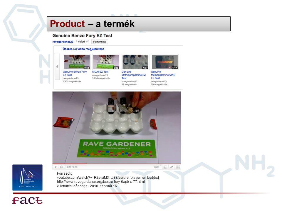Product – a termék Források: