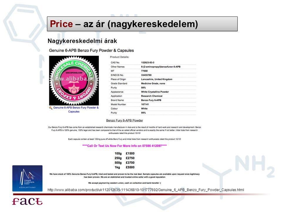 Price – az ár (nagykereskedelem)