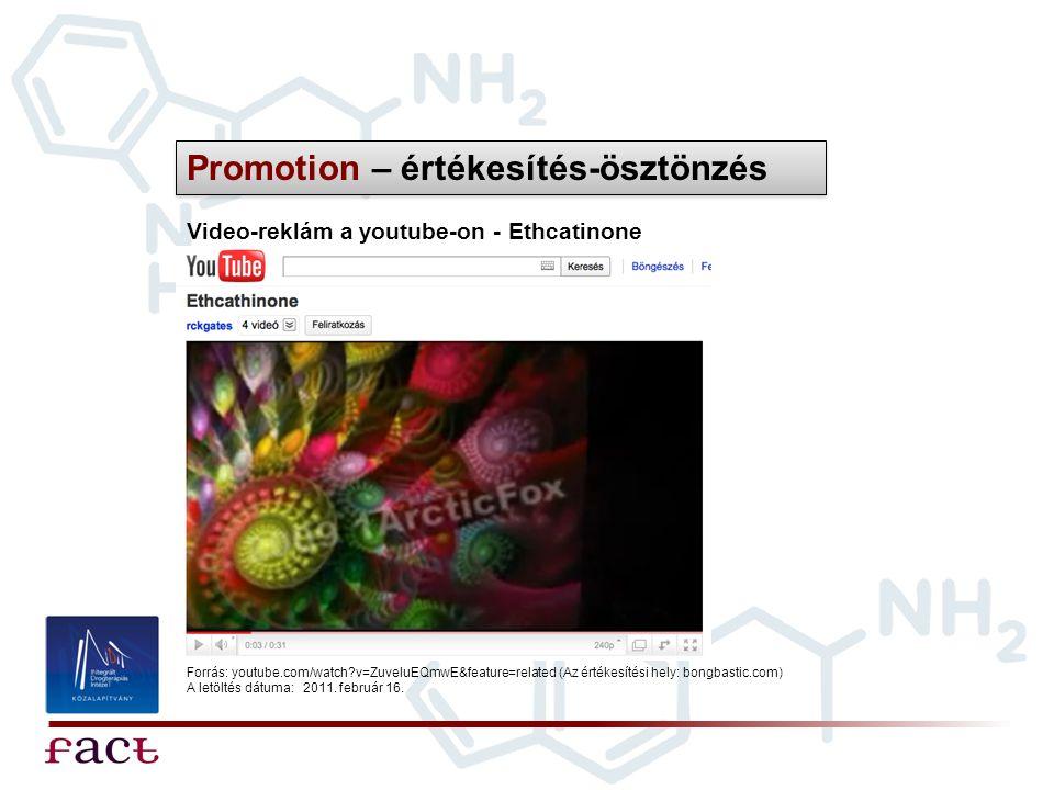 Promotion – értékesítés-ösztönzés
