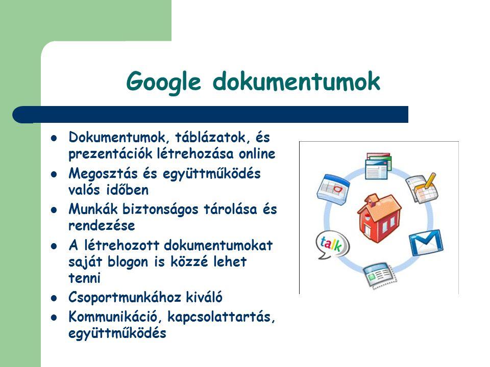 Google dokumentumok Dokumentumok, táblázatok, és prezentációk létrehozása online. Megosztás és együttműködés valós időben.
