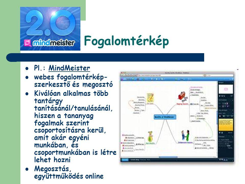 Fogalomtérkép Pl.: MindMeister