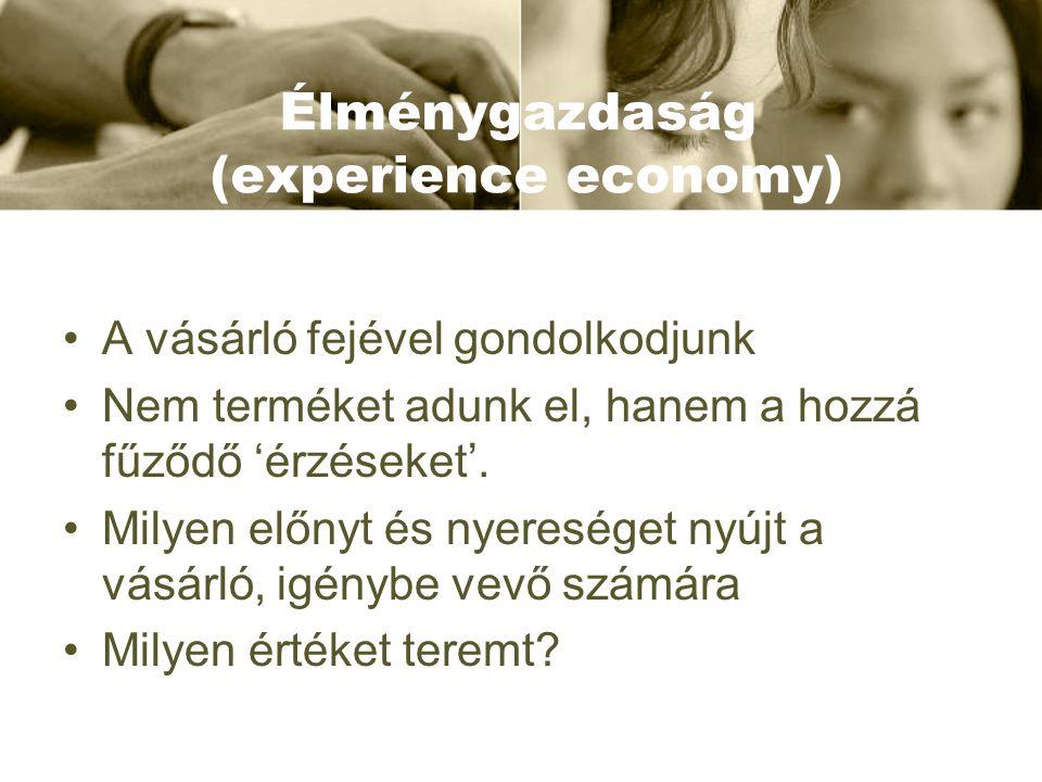 Élménygazdaság (experience economy)