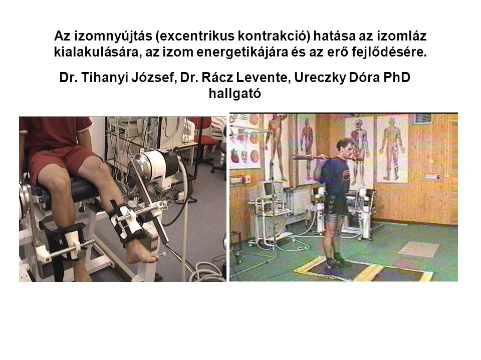 Dr. Tihanyi József, Dr. Rácz Levente, Ureczky Dóra PhD hallgató