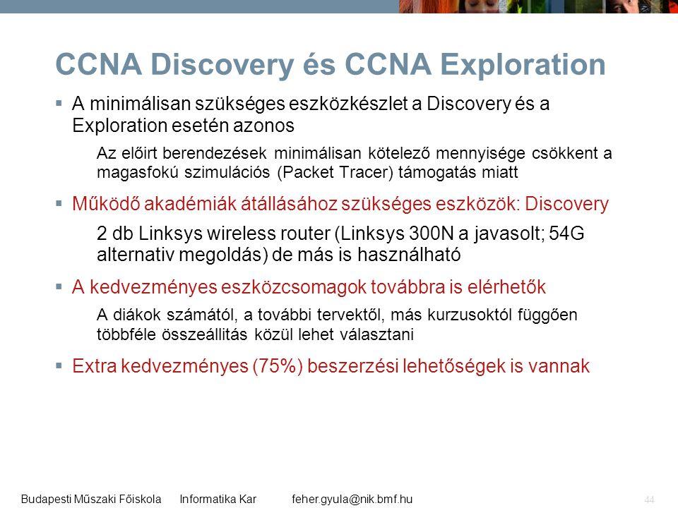 CCNA Discovery és CCNA Exploration
