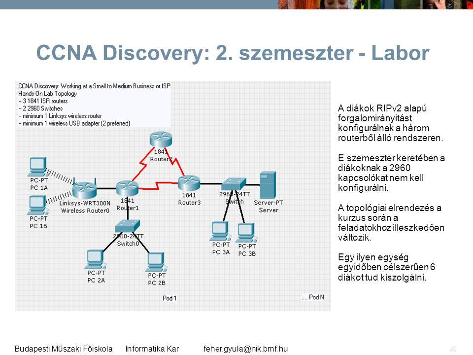 CCNA Discovery: 2. szemeszter - Labor