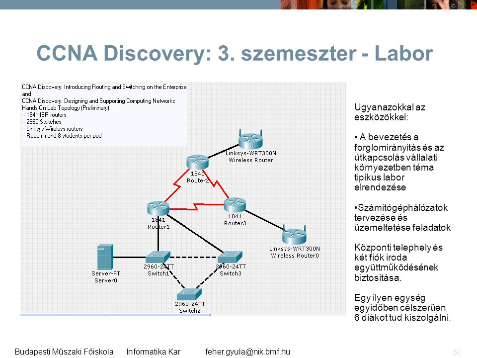 CCNA Discovery: 3. szemeszter - Labor