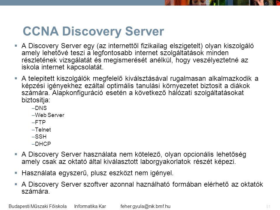 CCNA Discovery Server