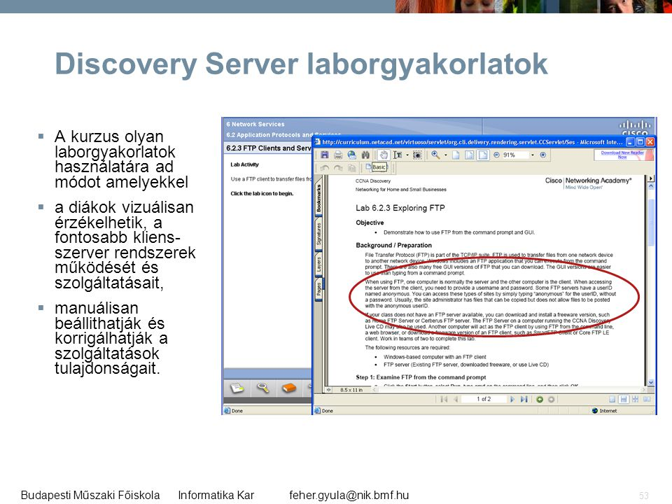 Discovery Server laborgyakorlatok