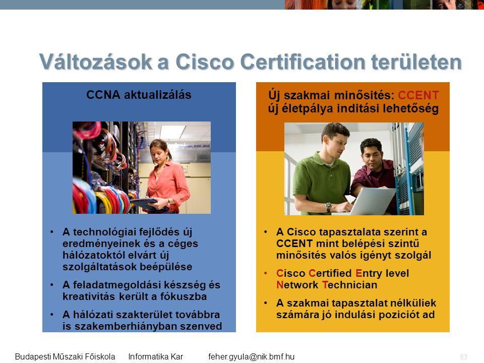 Változások a Cisco Certification területen