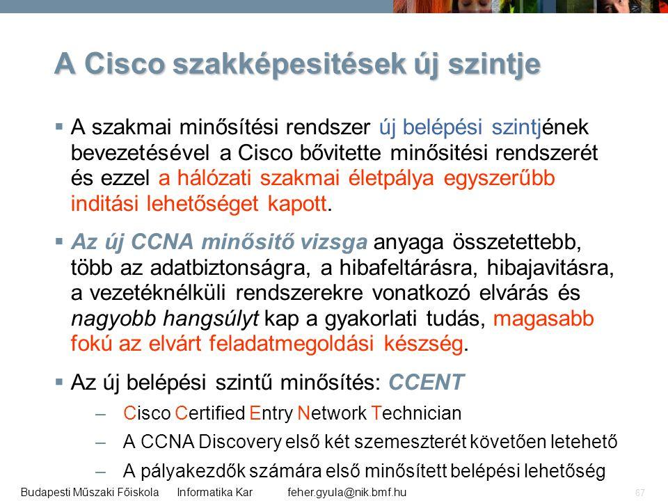 A Cisco szakképesitések új szintje