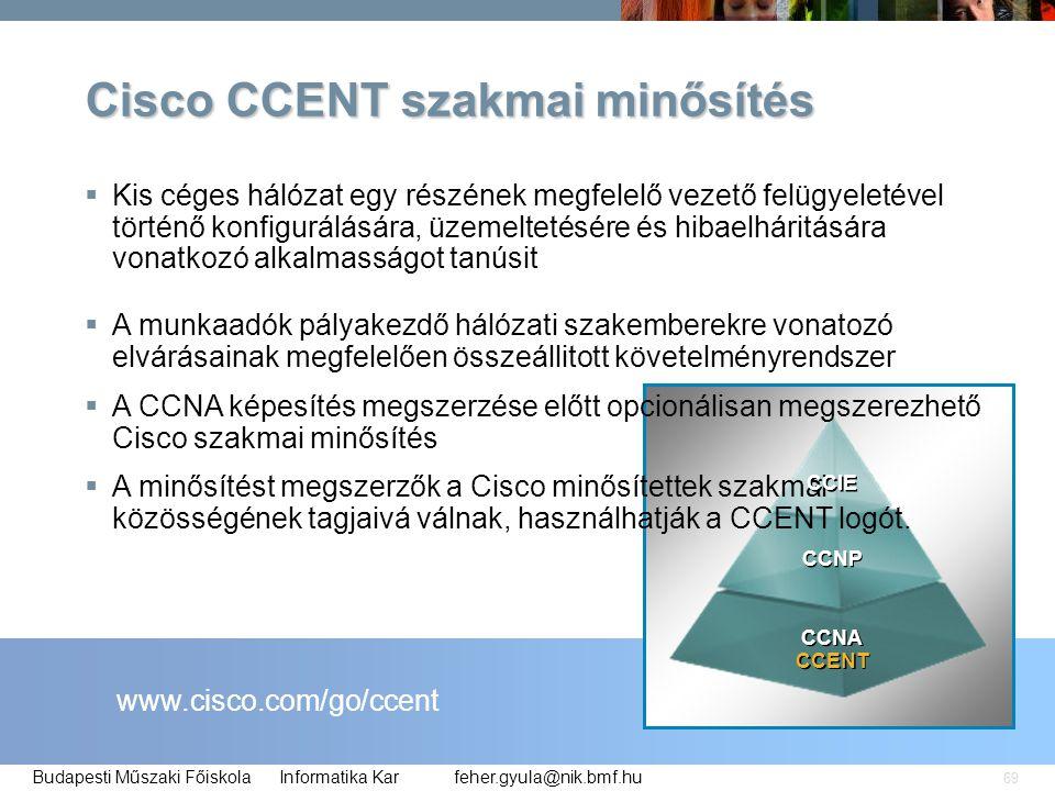 Cisco CCENT szakmai minősítés