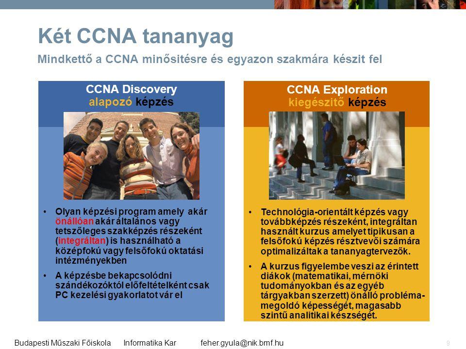 CCNA Discovery alapozó képzés CCNA Exploration kiegészitő képzés
