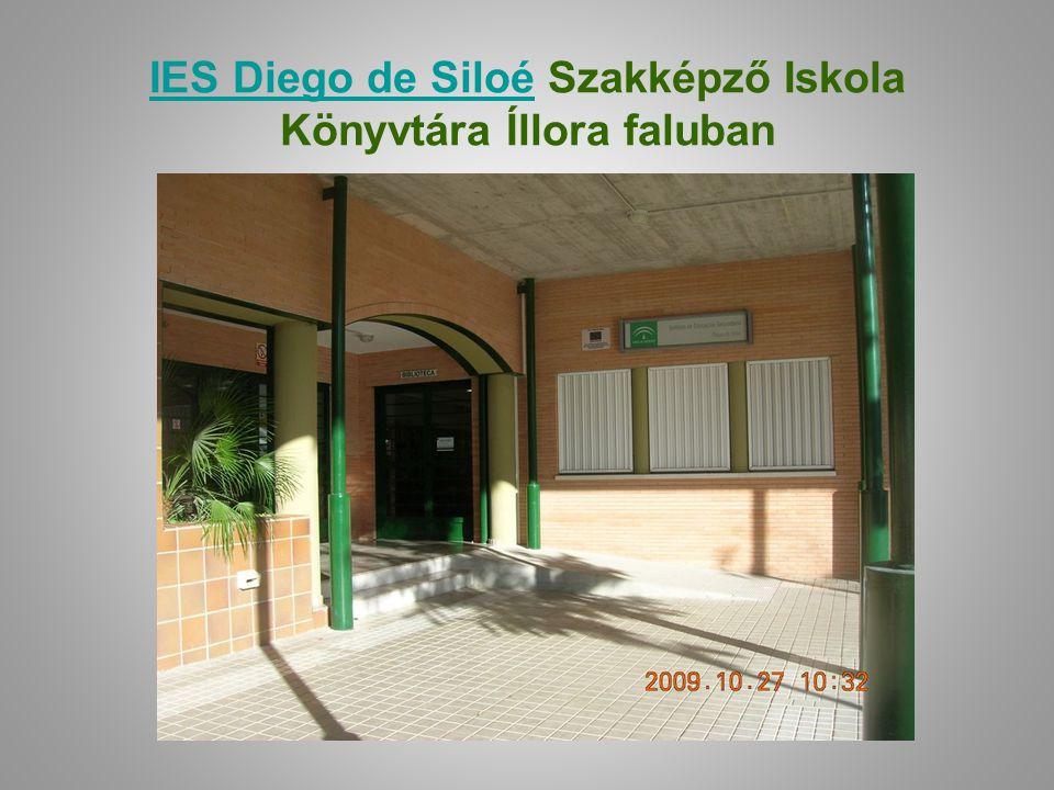 IES Diego de Siloé Szakképző Iskola Könyvtára Íllora faluban