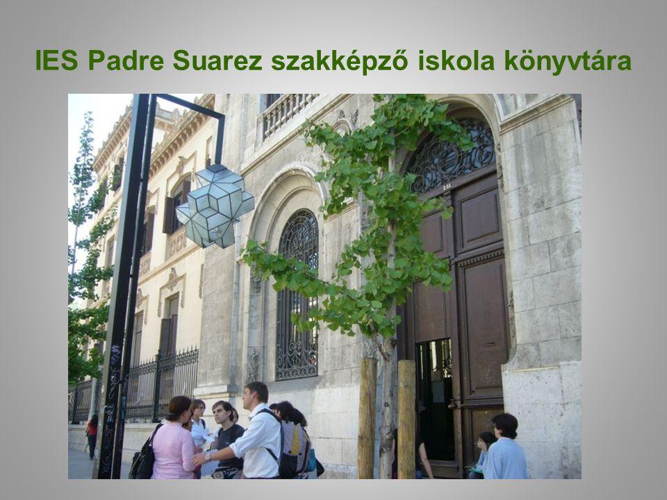 IES Padre Suarez szakképző iskola könyvtára