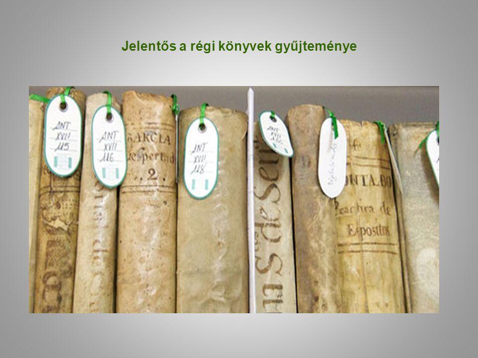 Jelentős a régi könyvek gyűjteménye