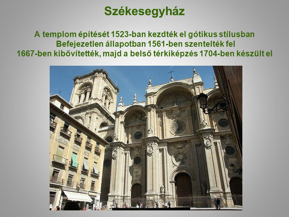 Székesegyház A templom építését 1523-ban kezdték el gótikus stílusban Befejezetlen állapotban 1561-ben szentelték fel 1667-ben kibővítették, majd a belső térkiképzés 1704-ben készült el