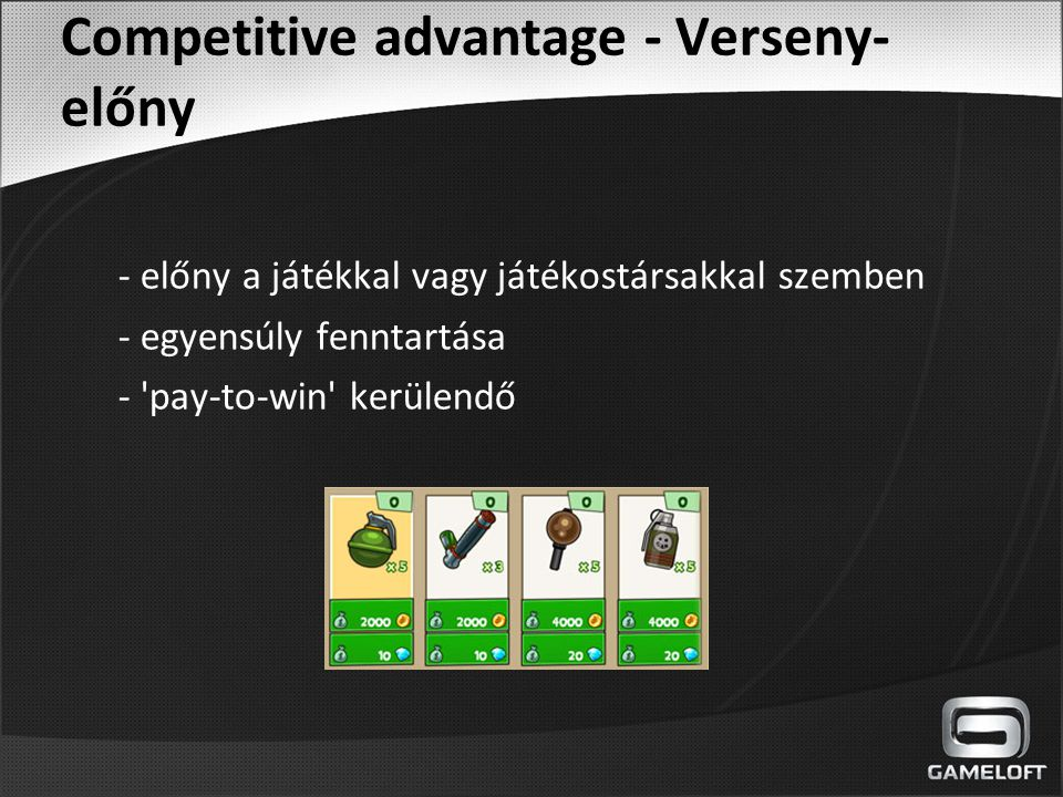 Competitive advantage - Verseny-előny