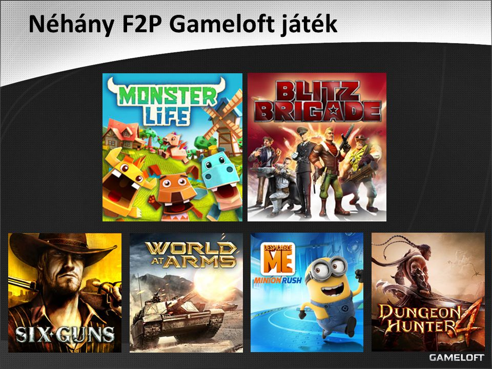 Néhány F2P Gameloft játék