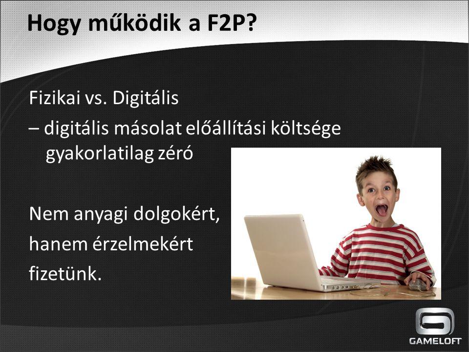 Hogy működik a F2P Fizikai vs. Digitális