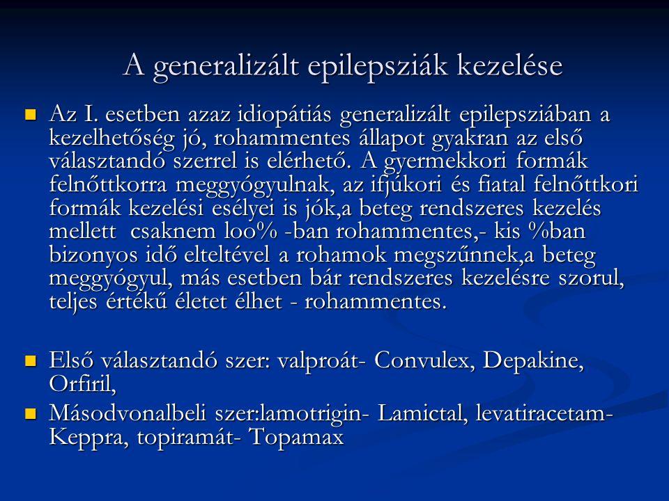 A generalizált epilepsziák kezelése