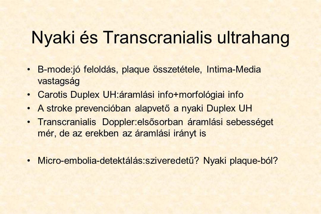 Nyaki és Transcranialis ultrahang