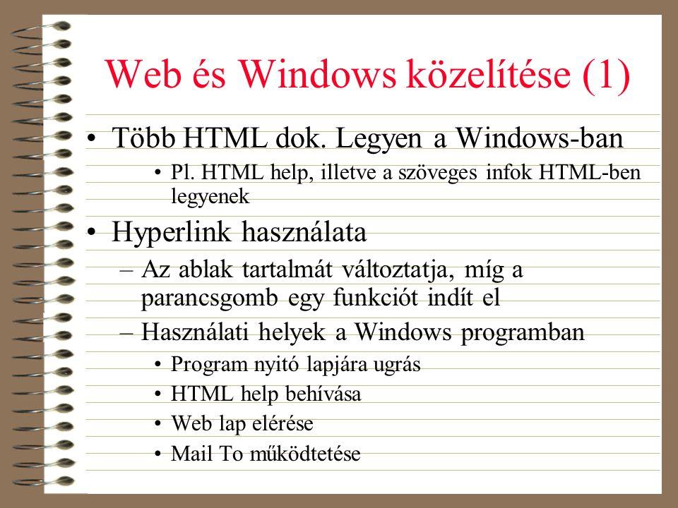 Web és Windows közelítése (1)