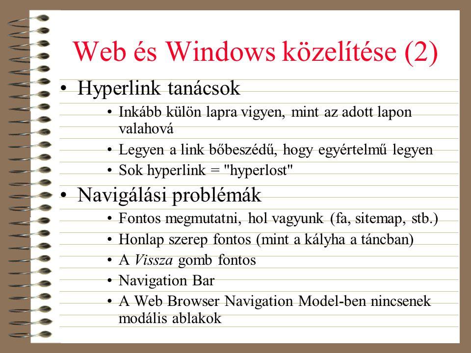 Web és Windows közelítése (2)