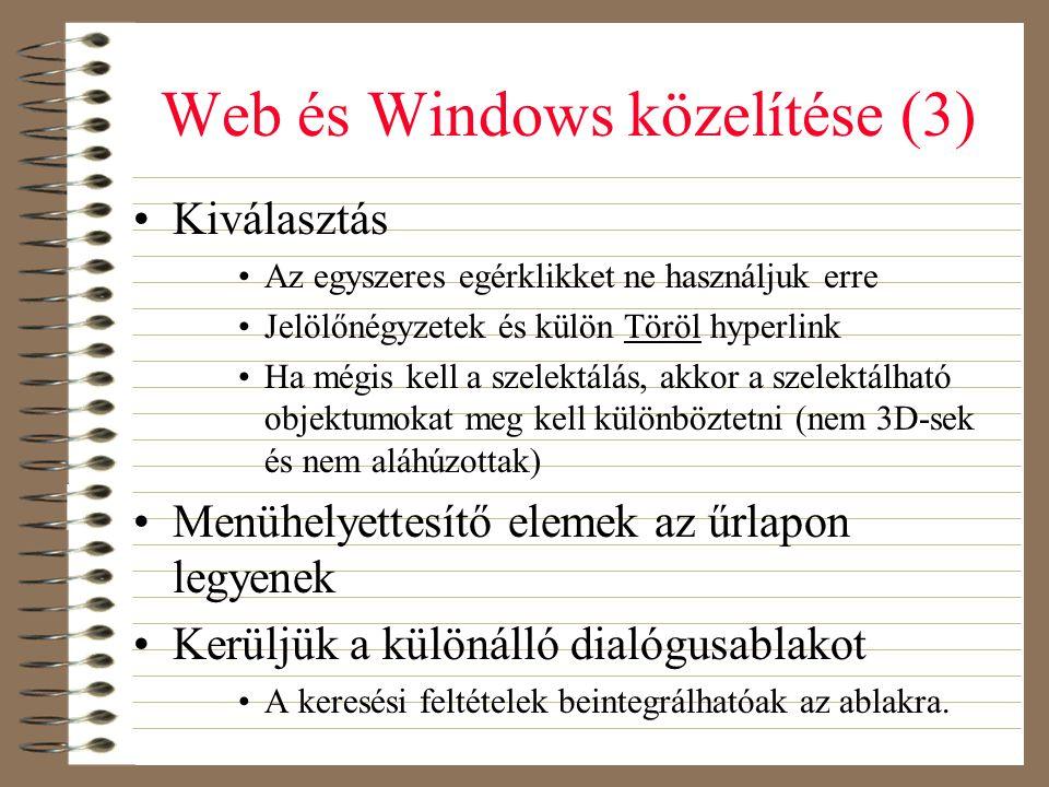 Web és Windows közelítése (3)