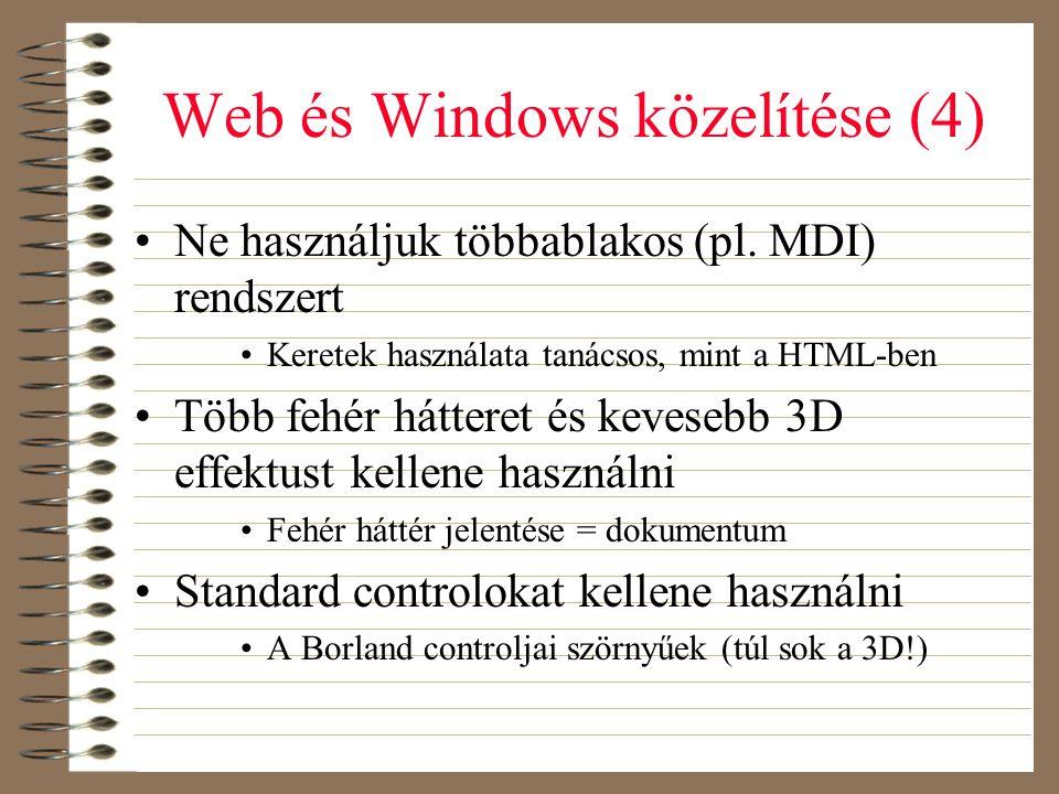 Web és Windows közelítése (4)