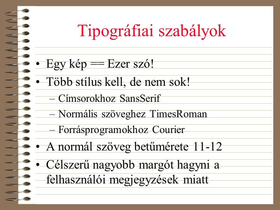 Tipográfiai szabályok