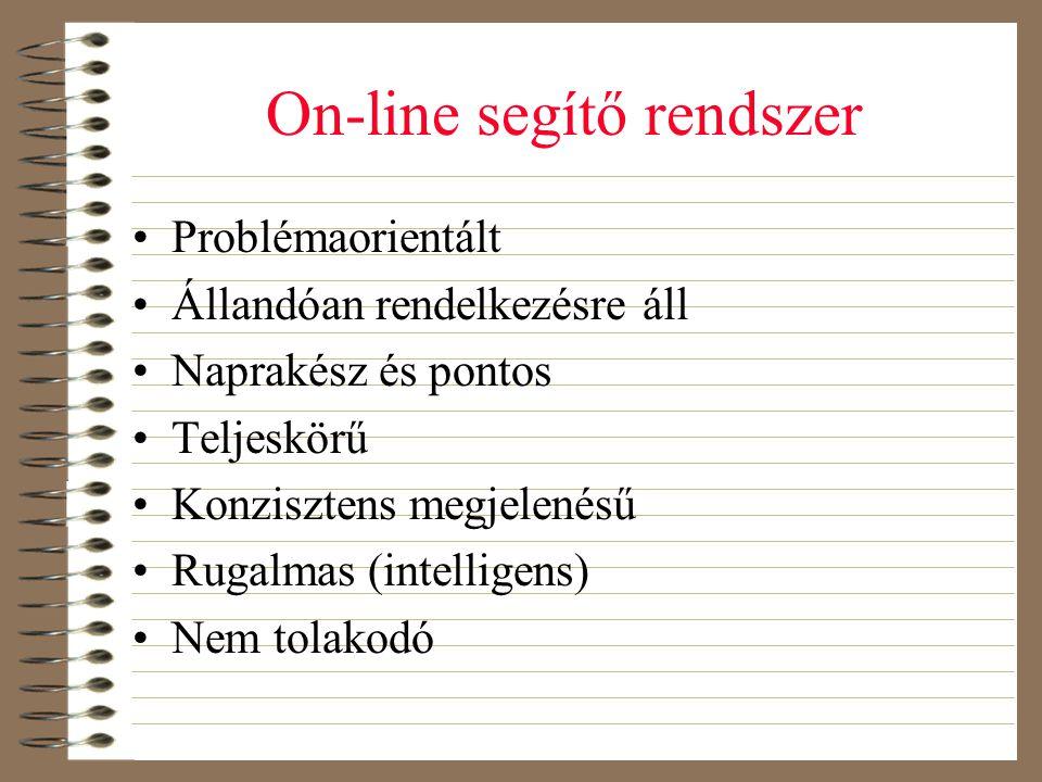 On-line segítő rendszer