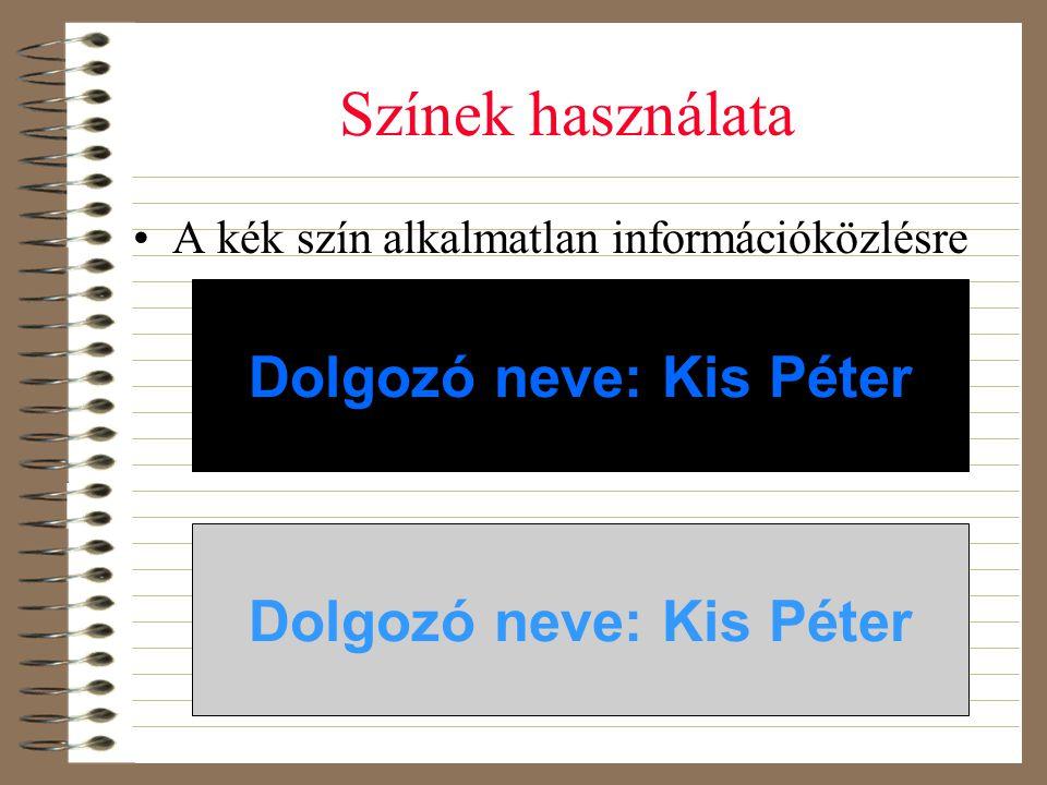 Dolgozó neve: Kis Péter Dolgozó neve: Kis Péter