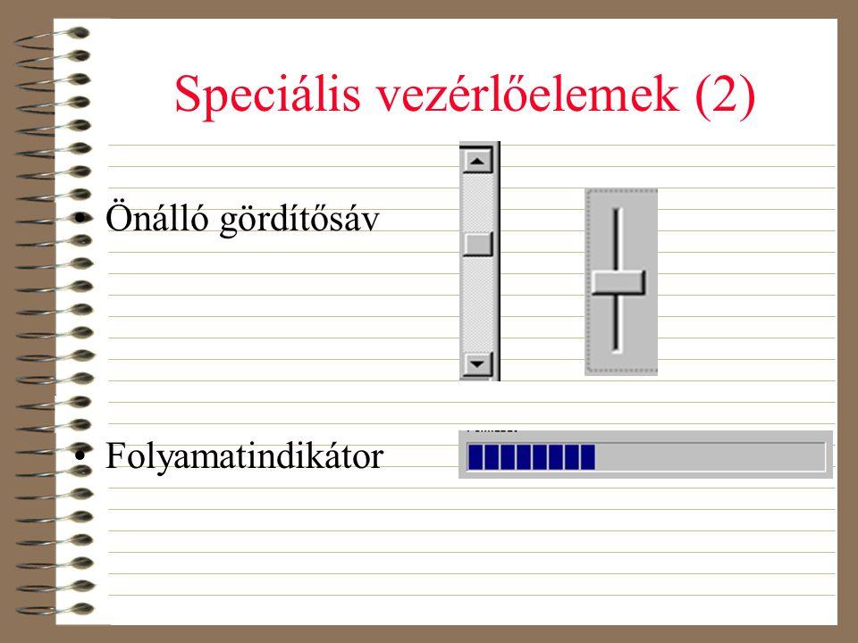 Speciális vezérlőelemek (2)
