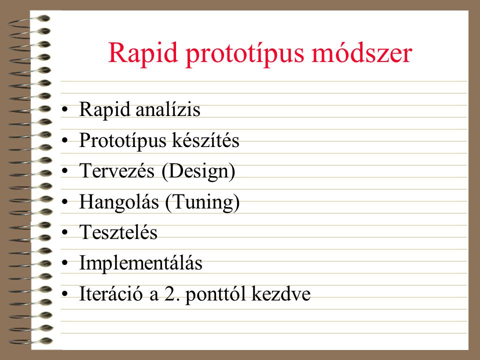 Rapid prototípus módszer