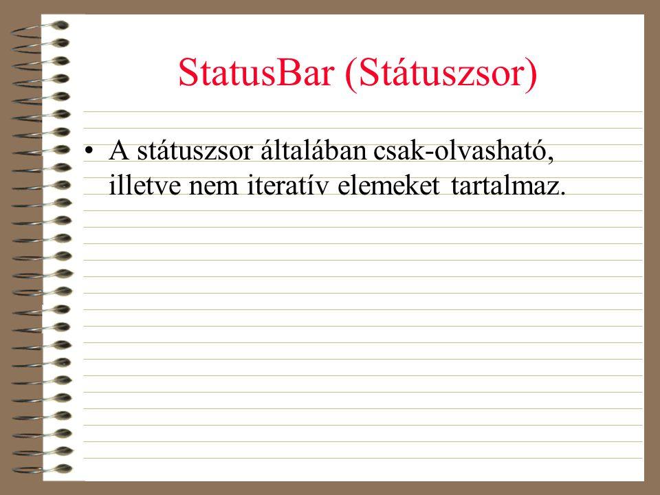 StatusBar (Státuszsor)