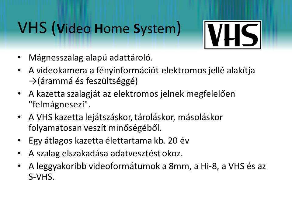 VHS (Video Home System)
