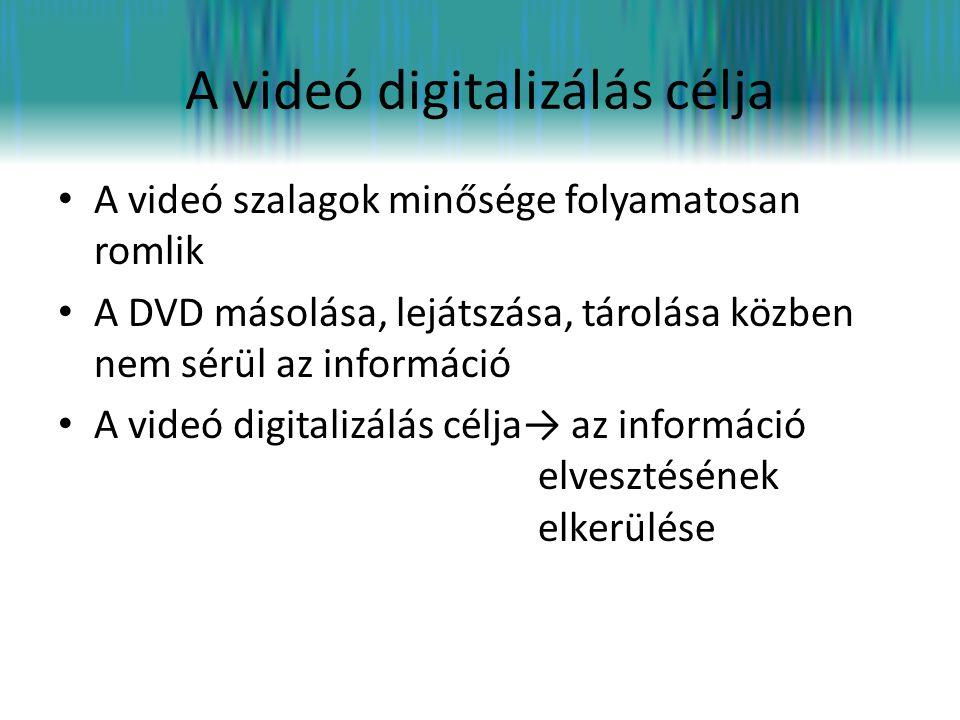 A videó digitalizálás célja