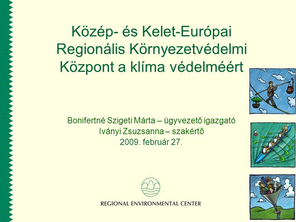 Közép- és Kelet-Európai Regionális Környezetvédelmi Központ a klíma védelméért