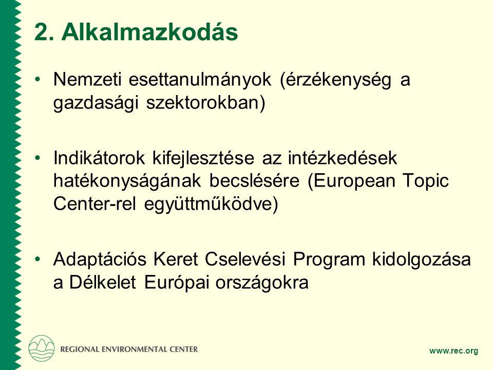 2. Alkalmazkodás Nemzeti esettanulmányok (érzékenység a gazdasági szektorokban)