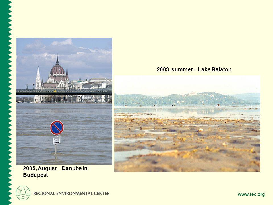 2003, summer – Lake Balaton 2005, August – Danube in Budapest
