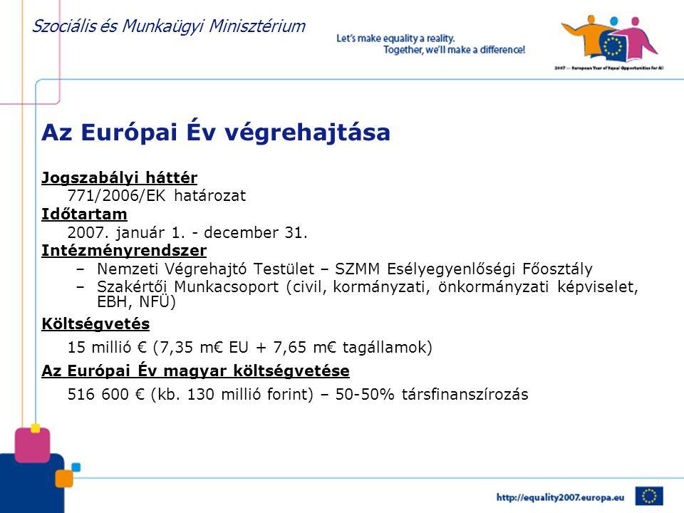 Az Európai Év végrehajtása