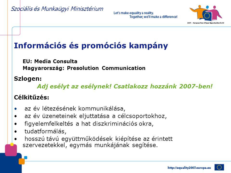 Információs és promóciós kampány