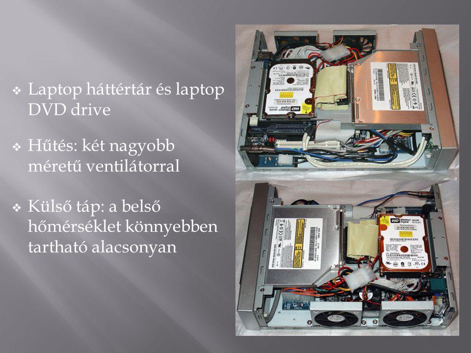 Laptop háttértár és laptop DVD drive