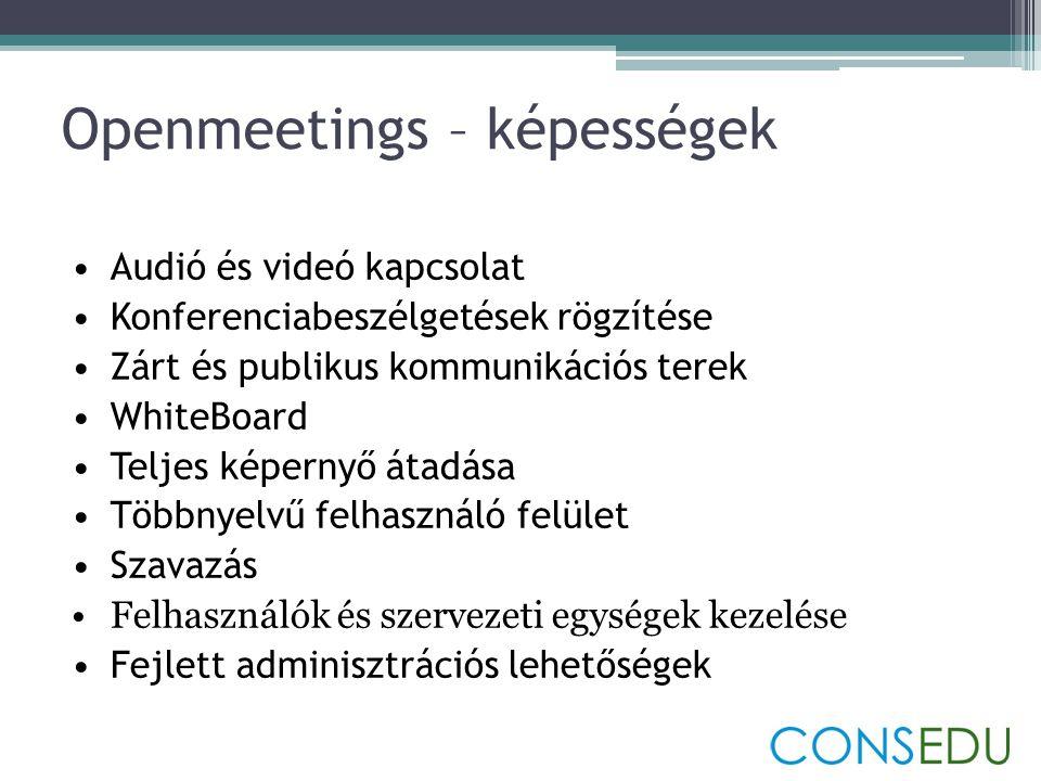 Openmeetings – képességek