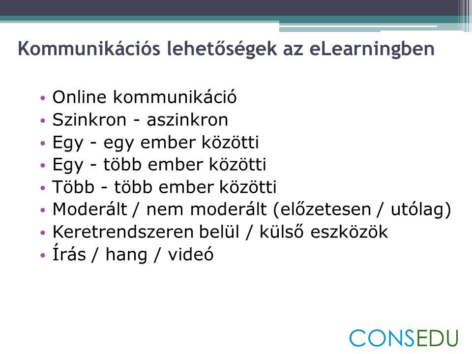 Kommunikációs lehetőségek az eLearningben