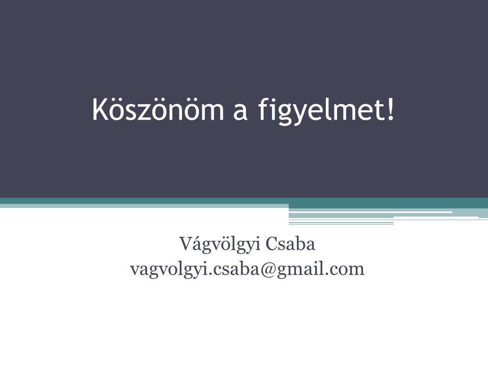 Vágvölgyi Csaba vagvolgyi.csaba@gmail.com