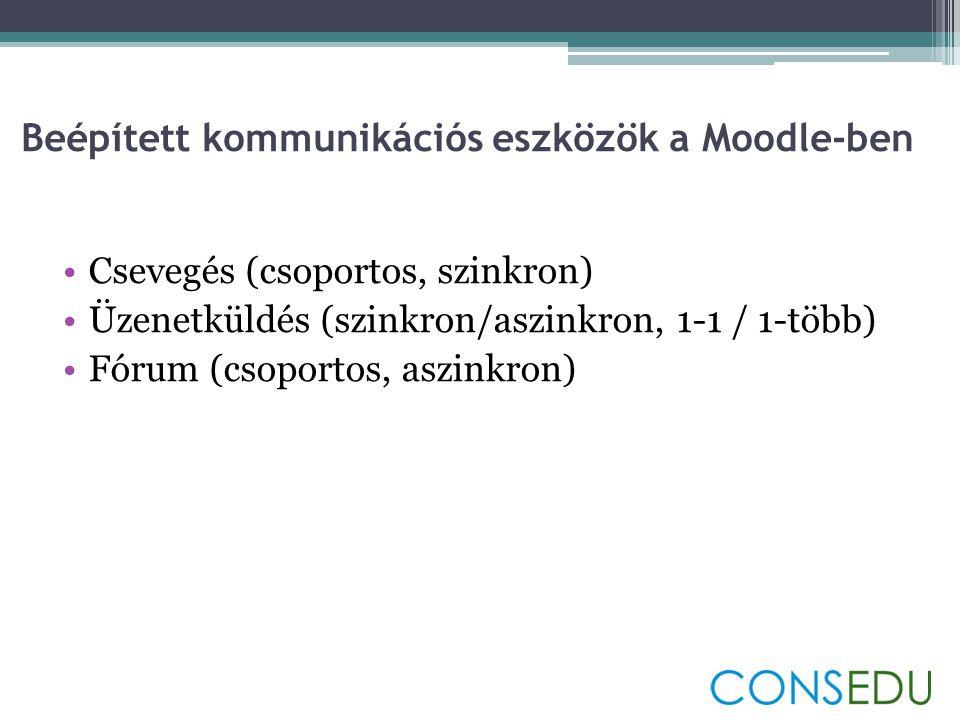 Beépített kommunikációs eszközök a Moodle-ben