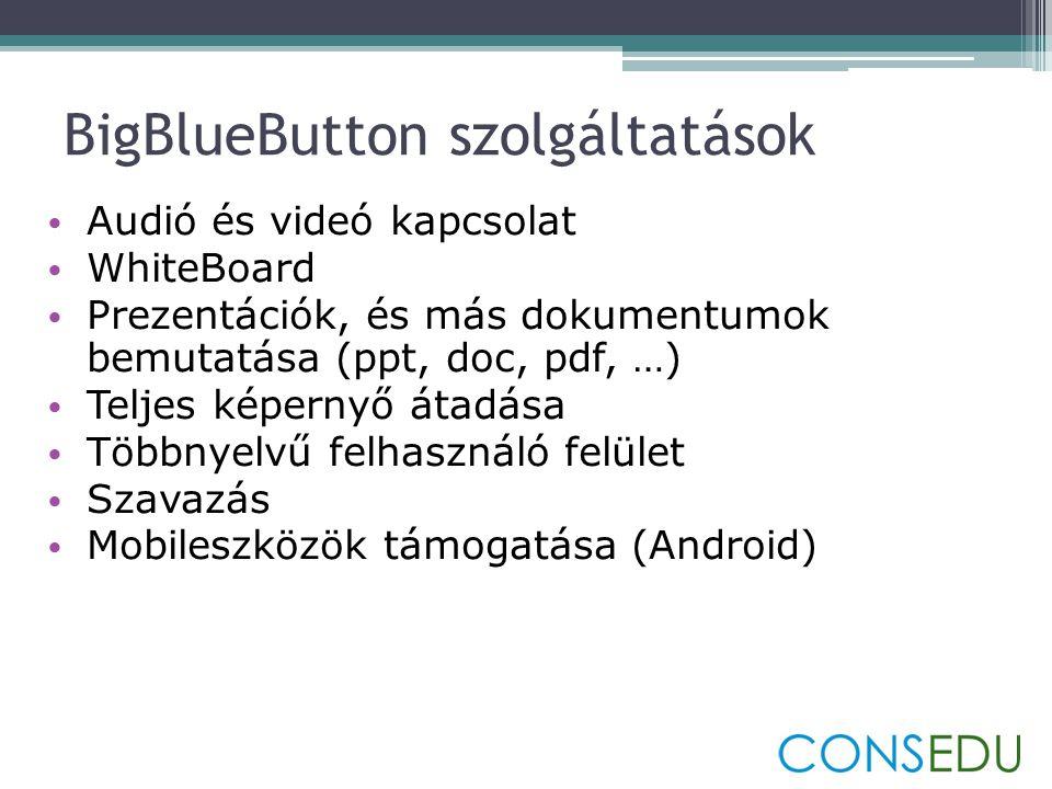BigBlueButton szolgáltatások